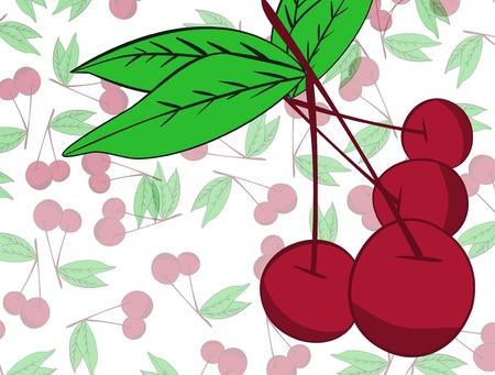 Cherry  background Stock Vector - 17148348