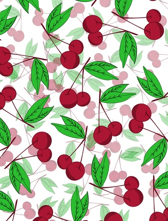 Cherry  background Stock Vector - 17148337