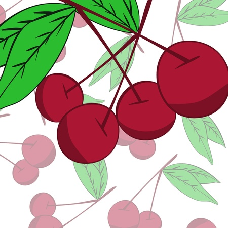 Cherry  background Stock Vector - 17148326