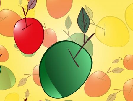 fruitage: Apple background