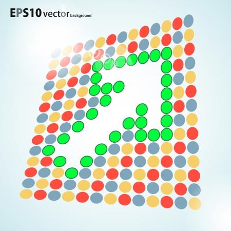 arrow background Stock Vector - 17703033