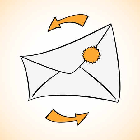 Envelope background Vector
