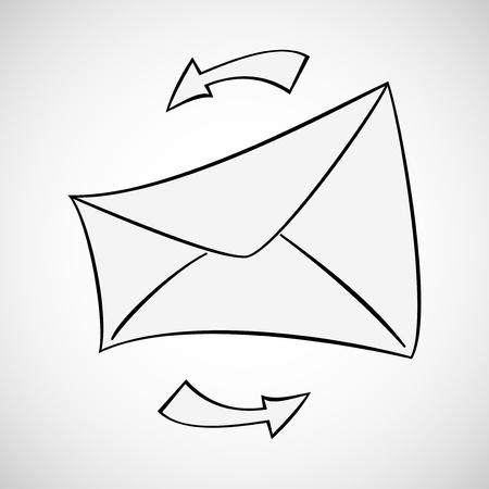 Envelope background Vector