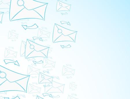 Envelope background Illustration