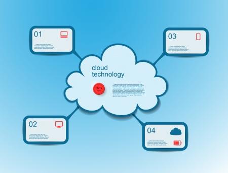 Cloud computing concept Stock Vector - 18886975
