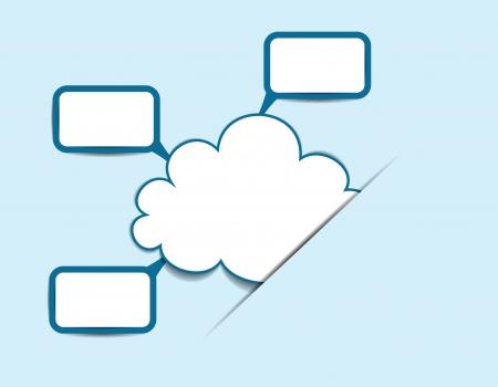 Cloud information concept Vector