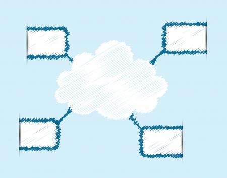 Cloud computing concept Vector