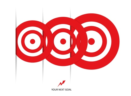 set of red targets Stock Vector - 18886974