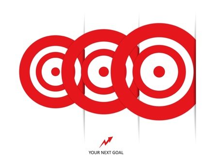 set of red targets Stock Vector - 18816914