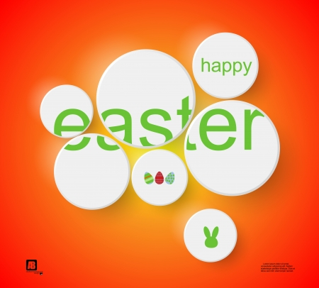 word  easter  in circles Stock Vector - 18816986