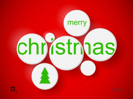 words  merry christmas  in circles Stock Vector - 18816913