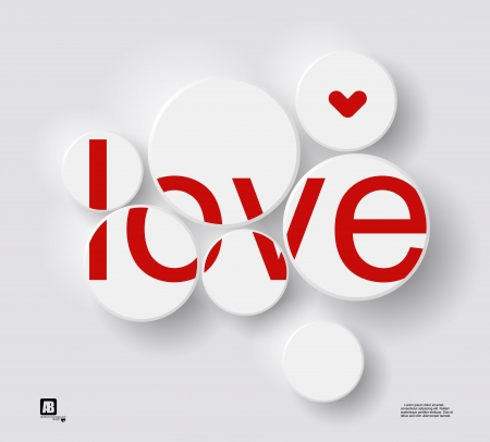 word  love  in circles Vector