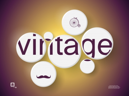 word  vintage  in circles Stock Vector - 18817026