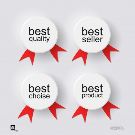 word  best  in circles Vector