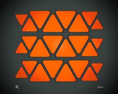 triangle stickers Vector
