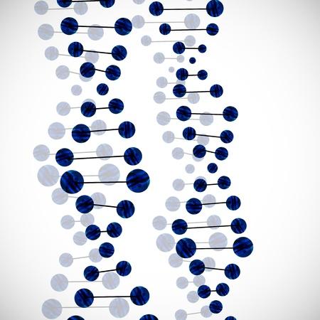 ADN molécula Ilustración de vector
