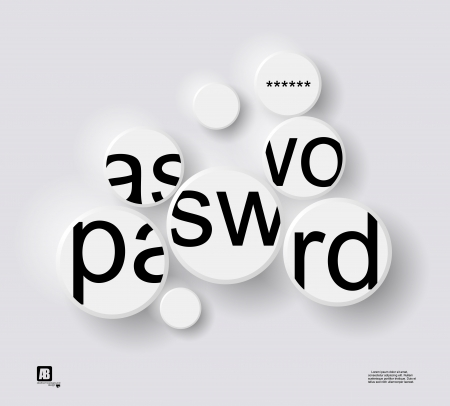 word  password  in circles