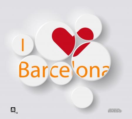 barcelona: I love Barcelona Illustration