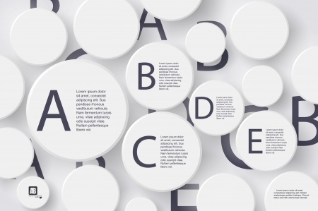 Vector - Alphabet Letters in Circle White Buttons