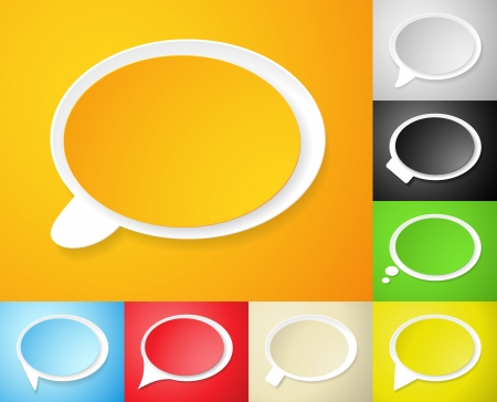 new product: Speech bubbles, set of vector illustrations