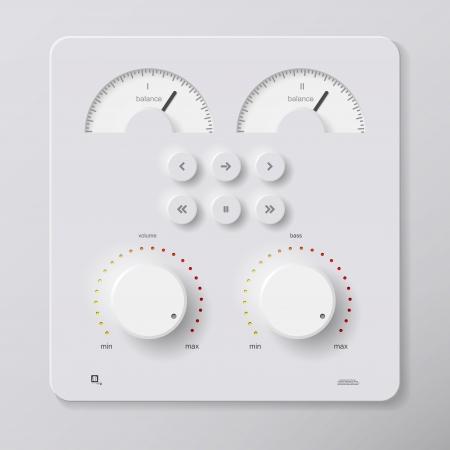 control panel Vector