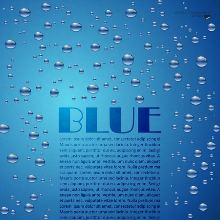 turbulent: Bubbles on a blue background