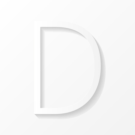 three dimensions: Vector letter