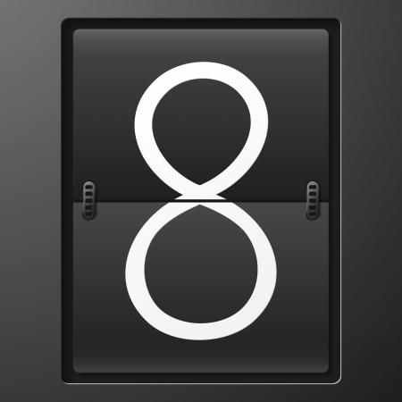 scorebord: Number from mechanical scoreboard alphabet