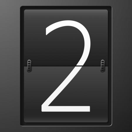 tableau: Number from mechanical scoreboard alphabet