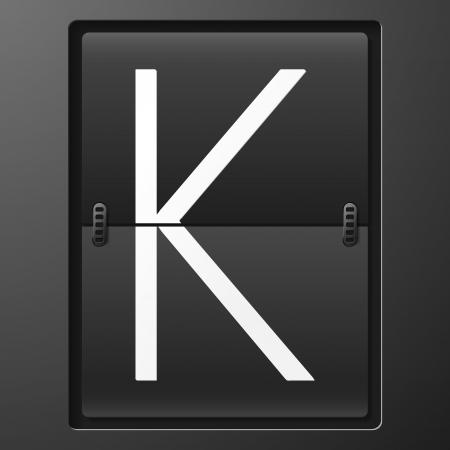 reversible: Letter from mechanical scoreboard alphabet