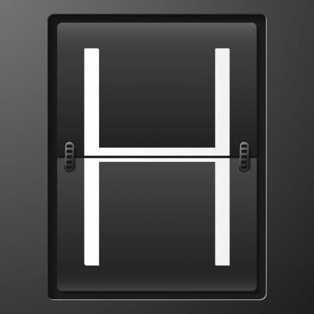 scorebord: Brief van mechanische scorebord alfabet