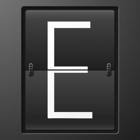 reversible: Number from mechanical scoreboard alphabet