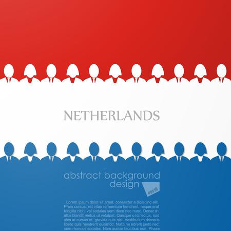 netherland flag Illustration