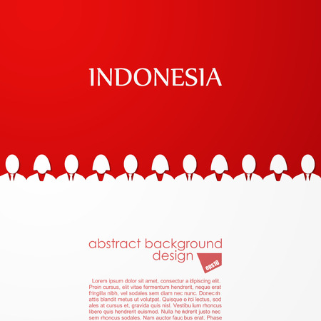 the indonesian flag: Indonesian flag Illustration