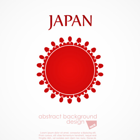 aligned: japan flag Illustration