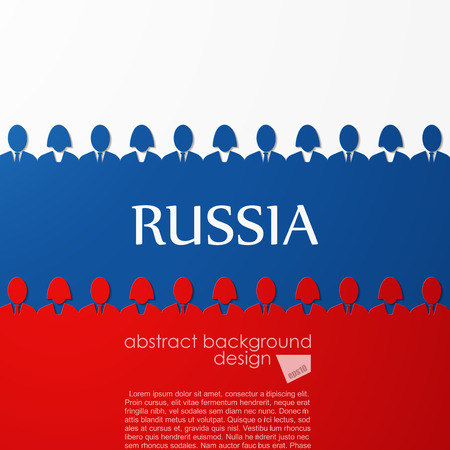 russian flag: Russian flag Illustration