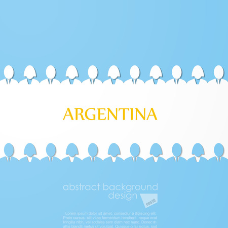 winning flag: Flag of Argentina Illustration