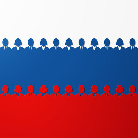 Russian flag Illustration
