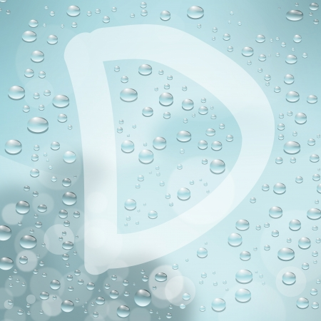 comin: Letter and water drop