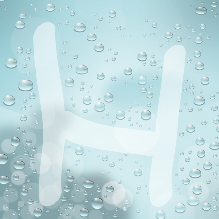Letter and water drop