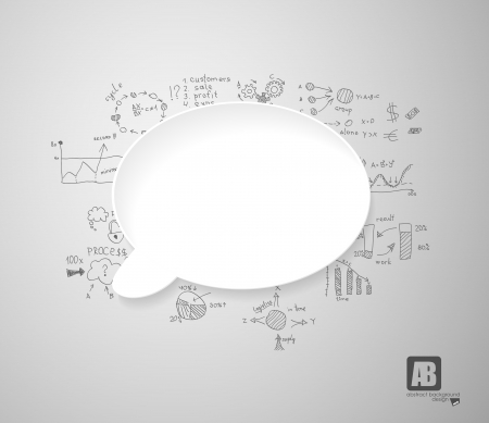 White speech bubble Vector