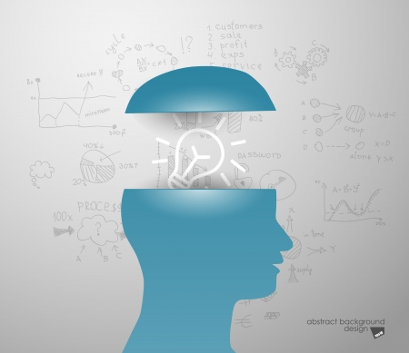 new thinking: idea in sIlhouette of a head