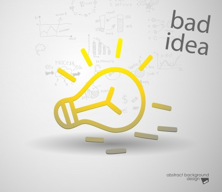destructive: Idea sign silhouette Illustration