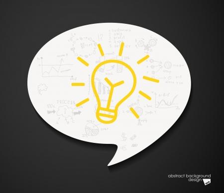 idea concept speech bubble