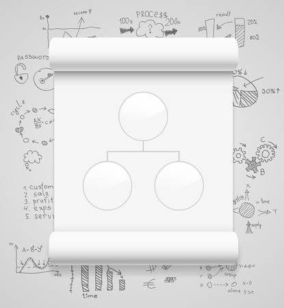 Blank scrolls of white paper Stock Vector - 23815241