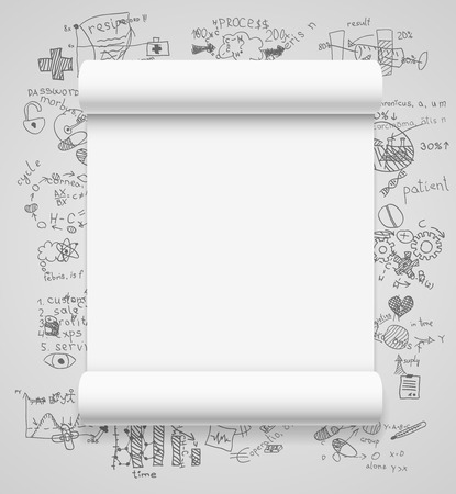Blank scrolls of white paper Vector