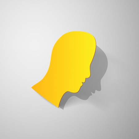 Man head paper cut Vector