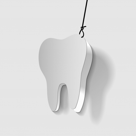 pulpitis: Sick tooth pulling off