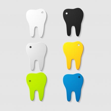 Sick teeth Vector
