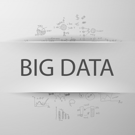 "big business: Information concept  inscription ""BIG DATA"" with formulas on the background"